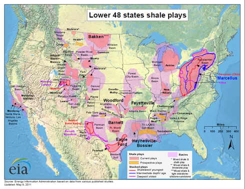 Shale gas plays490