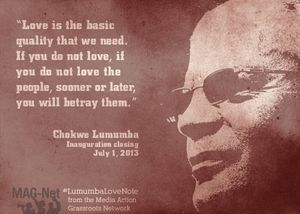 Lumumba on love