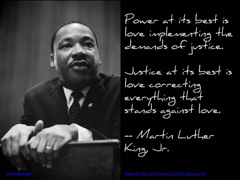 King quote love-justice-power