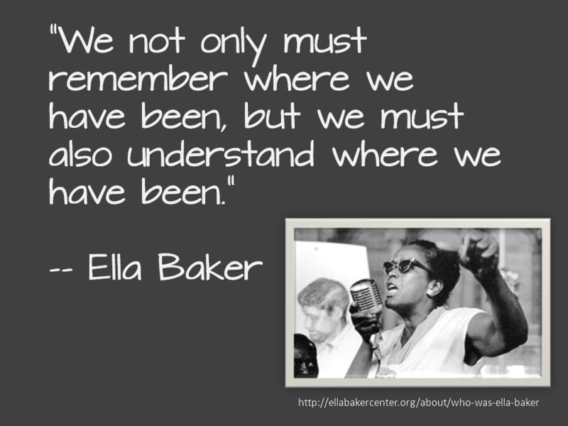 Ella baker remember-understand