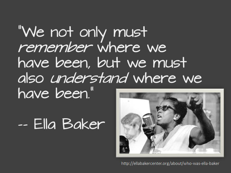 Ella baker remember-understand